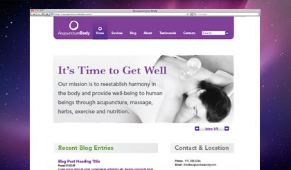 Acupuncture Body websitehomepage