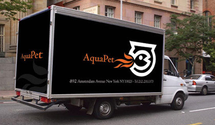 AquaPet delivery truck