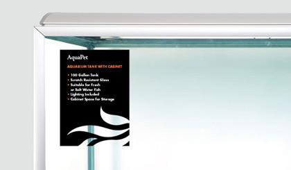 AquaPet product sticker