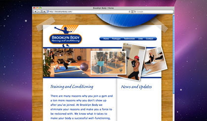 Brooklyn Body website homepage