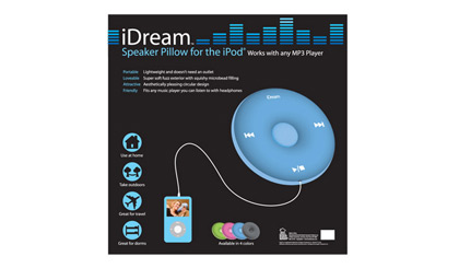 iDream Speaker Pillow package back deisgn