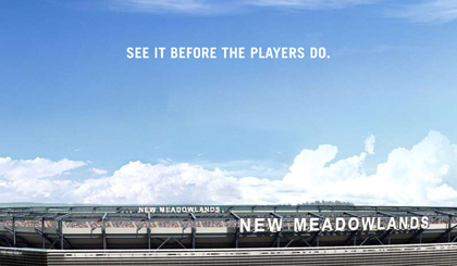 New Meadowland Stadium brochure front cover