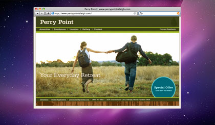 Perry Point website homepage