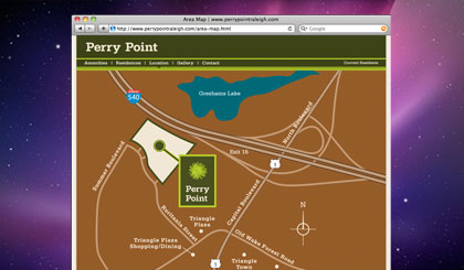 Perry Point website location page