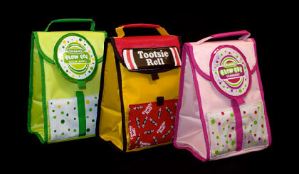 Tootsie Roll set of 3 lunch bags