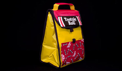 Tootsie Roll lunch bag - yellow and red