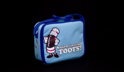 Tootsie Roll lunch bag - blue