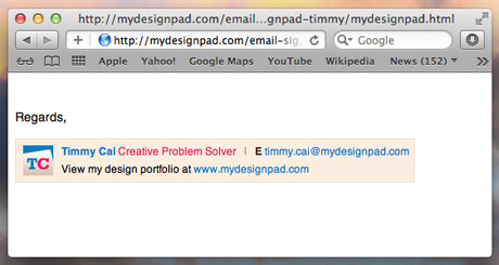 Type In Html Code The Signature Text Section To Create An Email Signature