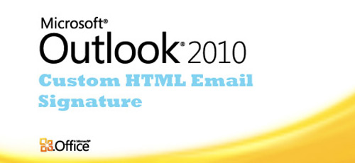 Outlook Signature 2007 Html
