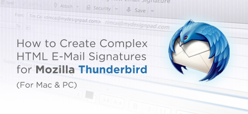 Create HTML Email Signature for Mozilla Thunderbird