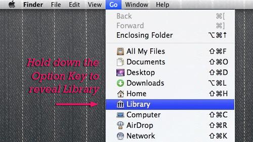Open Library folder