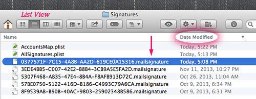 Open Signature folder