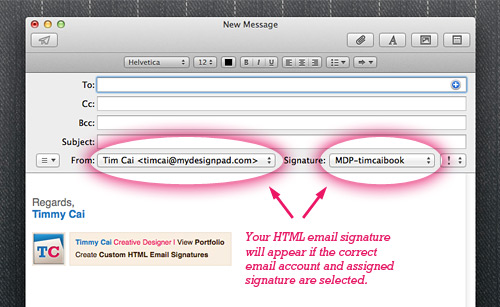 Check email signature