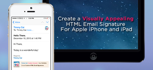 HTML Email Signature for iPhone and iPad
