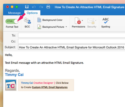 Create a new identity in outlook