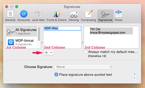 Yosemite Macmail Preferences Signature Setup1