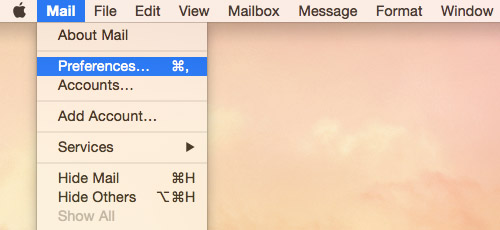 Yosemite Mac Mail Preferences