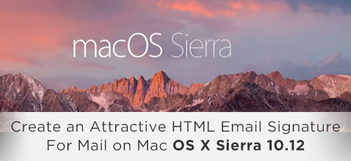 Mac Mail on osX Sierra 10.12