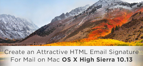 Mac Mail on Mac OS X High Sierra 10.13